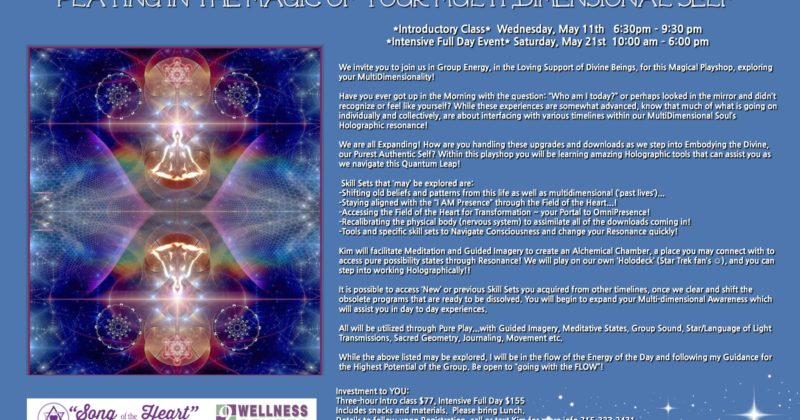 May 11, 2016 > Introductory: Playing in the Magic of your Multi-Dimensional Self