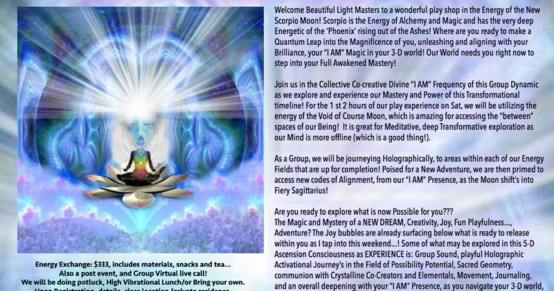"""November 18 – 19, 2017 – I AM the Alchemy of a """"New"""" Dream""""! in Madison, WI"""
