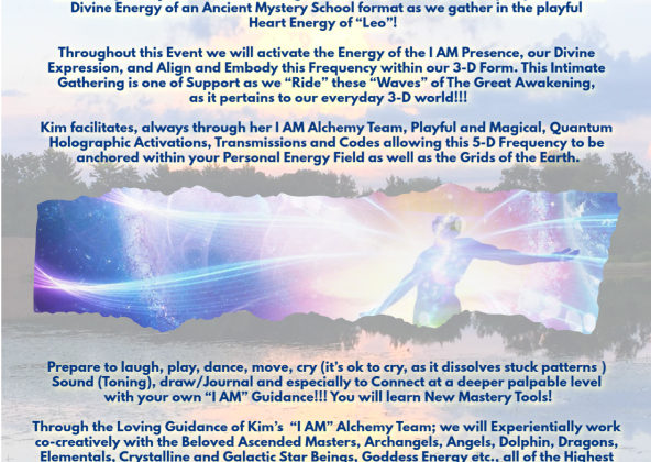 April 13-14 Riding the Waves of the Great Awakening Through the I AM Embodiment – Wisconsin Rapids, WI